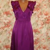 Яркое летнее платье из вискозы F&F размеры 12-14