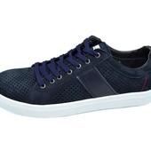 Мужские Мокасины с перфорацией Multi Shoes Solo синие