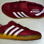 Кроссовки мужские Adidas Hamburg бордовые