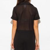 Свободная удлиненная блузка рубашка женская с разрезами Livera Л