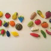 Овощи и фрукты на магнитах