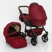 New! Универсальная коляска 2 в 1 Baby Tilly Saturn Len, бордовая