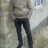 Кожаная куртка..размер 48- 50