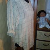 шелковая длинная рубашка с ассиметричным низом Armani