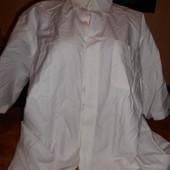 мужская рубашка белая-60-62р