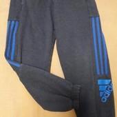 Подростковые спортивные утеплённые штаны Adidas рост 152