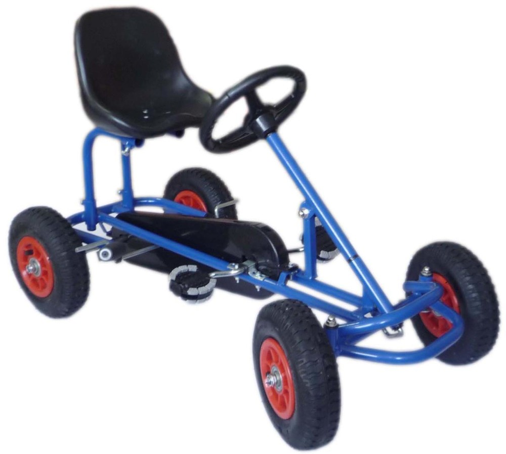 Детский веломобиль М 1503-4 надувные колеса,синий фото №1