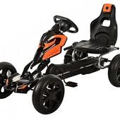 Детский Карт 1504-2-7, колеса EVA, оранжево-черный