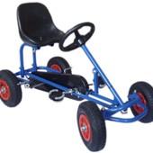 Детский веломобиль М 1503-4 надувные колеса,синий