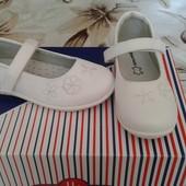 Туфли рр 25-30  Apawwa белые супинатор