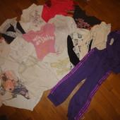 Пакет вещей на девочку 104-134 рост, кофта, реглан, блуза, кофточка, рубашка, спортивный костюм