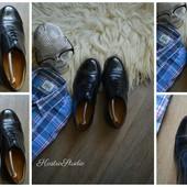 Кожаные туфли-оксфорды,р-р 40-41