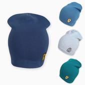 Однотонные шапки на ог 52-56см