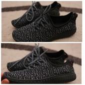 Мокасины -кеды Adidas Yeezy Boost Full Black 41 - 45