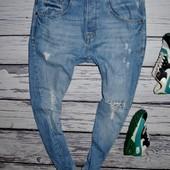 Очень крутые фирменные рваные джинсы модникам скини 30 R S