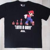 Фирменная хлопковая футболка Super Mario от Bioworld, р. L. Оригинал
