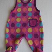 Ползунки велюровые на девочку 0-3 месяца рост 56 см