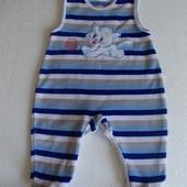 Ползунки велюровые на мальчика 0-3 месяца