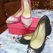 Туфли на каблуке два цвета