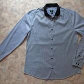 Мужская рубашка в полоску 48