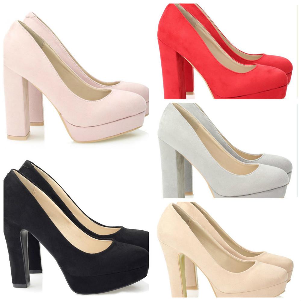 Замшевые туфли на толстом каблуке фото №1 33836ea68cb32