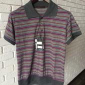 Мужская футболка лил+серый