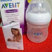 Новая бутылочка для кормления Philips Avent Natural 125мл от 0 мес