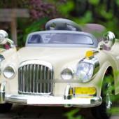 Детский электромобиль T-762 beige ретро