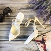 Шикарные туфли-лодочки с открытой пяткой на высоком каблуке  SH1401