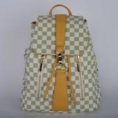 Стильный городской женский рюкзак бежевый