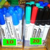 Фломастера маркера, мелки для мольберта, досок