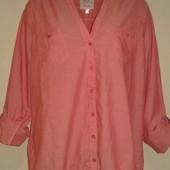 Персиковая натуральная блуза Clockhouse ( L )