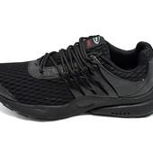 Мужские кроссовки Supo AirMax 1719 черные