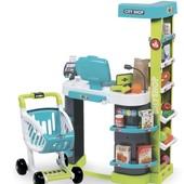Интерактивный Супермаркет с тележкой City Shop Smoby 350207