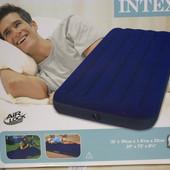 Кровать велюр 68757 син. (без насоса) в кор. 99*191*22 см.