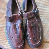 Туфли кожа полностью! р 45 маломерки ( 28 см стелька)