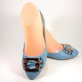 Модные светло голубые балетки. Размер 36-41.