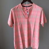 Мужская футболка розовая