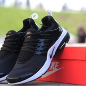 Кроссовки Nike Air Presto black white сетка