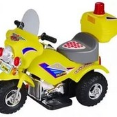 Детский электромобиль трицикл желтый (M-026-Y) с одним мотором