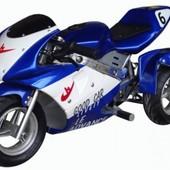 Электромотоцикл синий (HL-Е69) с мотором 350 W