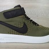 Кроссовки Nike Air Force Flyknit high, р. 40-44, код mvvk-1162
