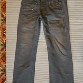 Нетривиальные х/б фирменные джинсы цвета хаки G-Star Raw Голландия 31/32 р.