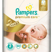 подгузники pampers premium care 2 3-6 кг 80 шт