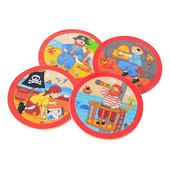 Деревянные игрушки - пазлы с повтором картинки пираты