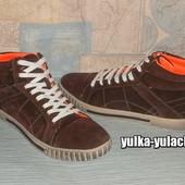 Стильные молодежные Кроссовки - Хайтопы - Ботинки в спортивном стиле. Натуральная замша.