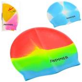 Шапочка для плавания,  3 цвета