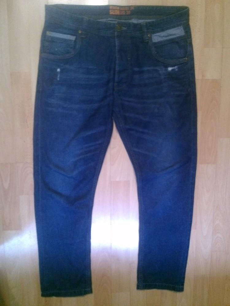 Фирменные джинсы слим 34 р. фото №1