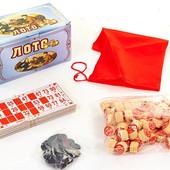 Настольная игра русское лото 4949 в картонном футляре (коробке): 90 бочонков + 24 карточки