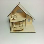 Кукольный домик двухэтажный с мебелью (для кукол и зверушек 5-8 см)